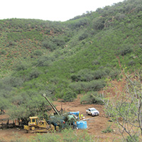 Drilling at the Ermitaño project